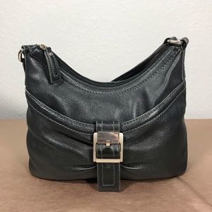 Woman's Clark's leather hand bag black